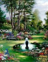"""Алмазная вышивка """"Фонтан в саду"""""""