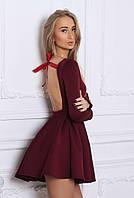 Женское платье открытая спина