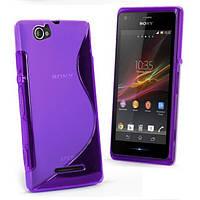 Чехол накладка для Sony Xperia M Dual C1905 C2005 фиолетовый