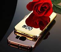 "Samsung S6 G920 GALAXY Оригинальный чехол бампер накладка ЗЕРКАЛЬНЫЙ ХРОМИРОВАННЫЙ ""GLARE"""