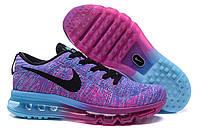 Женские кроссовки Nike Air Max 2014 Flyknit Fucsia/Blue