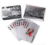Карты игральные серебро эвро