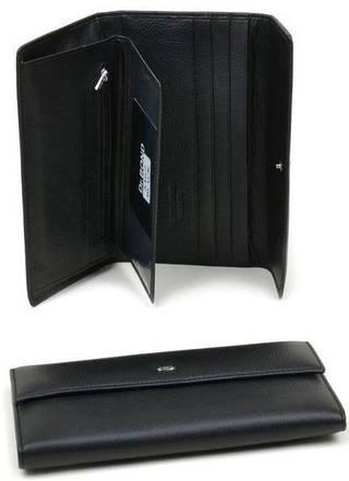 Солидный мужской портмоне из качественной натуральной кожи Dr.Bond M67 black (черный)