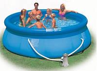 Надувной бассейн Intex 56422 Easy Set Pool 366 x 76 см в комплекте фильтр насос для очистки бассейна