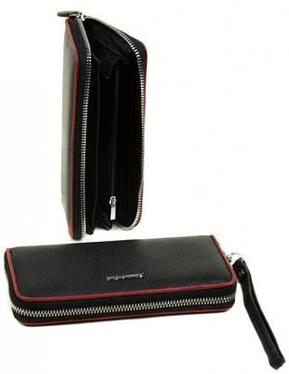 Вместительный кожаный женский кошелек Alessandro Paoli WS-38 black черный