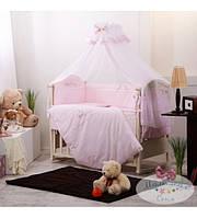 Комплект детского постельного белья «Golden baby»  Swarovski,нежно-розовый