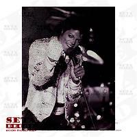 "Репродукция, постер ""Майкл Джексон"" 30х40 см на холсте"