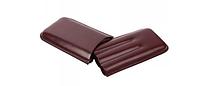 Футляр 09262 для 3 сигар, экокожа, коричневый, Robusto, 18 см