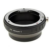 Адаптер переходник Pentax PK K - Nikon 1 J1 кольцо