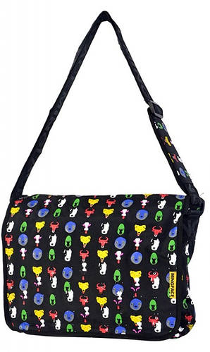 Очаровательная молодежная сумка Daniel Ray полиэстер 43,548900 черная
