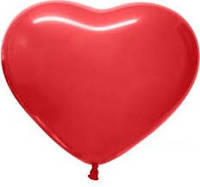 "Шар  Сердце красное Gemar   10""/ 25 см. 100шт/уп."