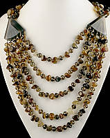 Натуральное ожерелье из камня агат