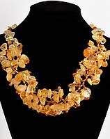 Ожерелье из цитрина