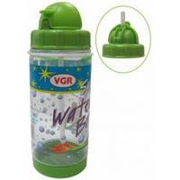 Бутылочка для напитков (поильник) VGR WB27031 с трубочкой, 400 мл
