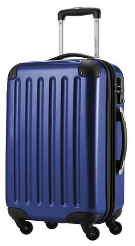 Оригинальный большой 4-колесный пластиковый чемодан 87 л. HAUPTSTADTKOFFER alex midi dark blu синий