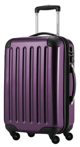 Пластиковый функциональный дорожный чемодан 4-колесный 87 л. HAUPTSTADTKOFFER alex midi violet фиолетовый