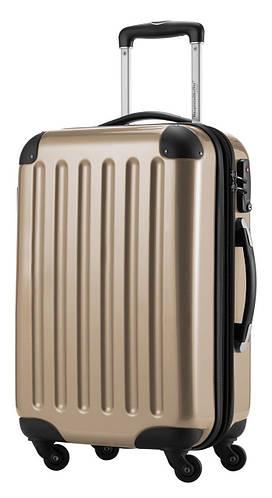 Надежный 4-колесный большой пластиковый чемодан 87 л. HAUPTSTADTKOFFER alex midi bronze бронзовый