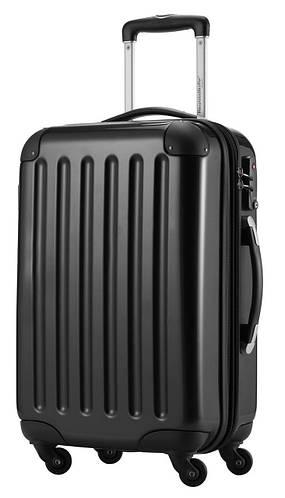 Классический модный большой 4-колесный пластиковый чемодан 87 л. HAUPTSTADTKOFFER alex midi black черный