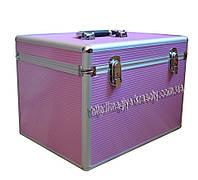 Чемодан для парикмахерских инструментов. Размеры: д-37,5 см, в - 28см, ш - 28см. Цвет ( розовый )