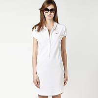 Платье поло лакост белое