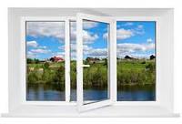 Металлопластиковое окно 1420*1760 Aluplast 2000 3-х камерное
