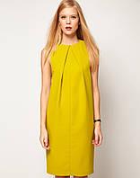 Свободное платье горчичного цвета