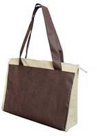Эко - сумка на замке двойной спанбонд 35*15*46 см.