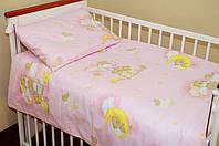 Простынь на резинке в кроватку новорожденного