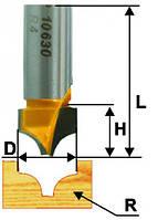 Фреза пазовая фасонная ф22.5 х15, r9.5, хв.12мм (арт.10631)