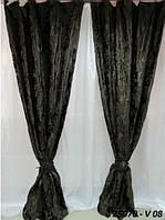 Портьера велюр-жаккард 150X270 25070 V08 темно-шоколадная