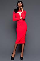 Шикарное Красное Платье-Футляр со Звездой S-XL