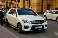 Брызговики оригинальные Mercedes Benz ML W166 с порогами, (AVTM) комплект 4-шт.