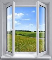 Металлопластиковое окно КВЕ 1200*1400 мм 3-х камерное
