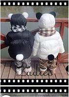 Куртка детская с бубонами из натурального меха