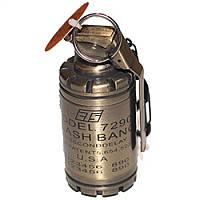 Зажигалка световая граната большая - бронзовая - пламя ветрозащитное