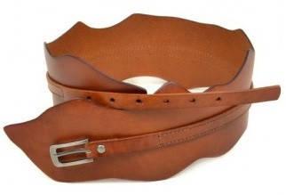 Оригинальный женский кожаный ремень 2151 light-coffee коричневый