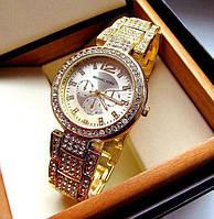 Часы женские Michael Kors Золотые Металлические в стразах