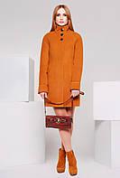Яркое пальто женское