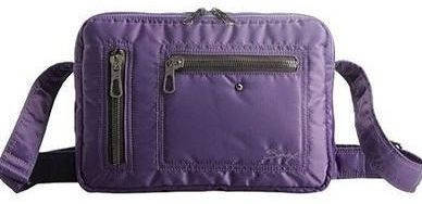 Мужская компактная сумка через плечо с отделением для планшета Sumdex NOD-696LB фиолетовый