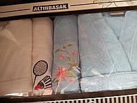 Двойной набор 2 халата (мужской и женский) + 2 полотенца Altinbasak Pacific