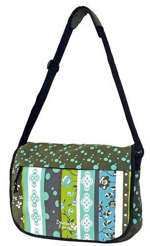 Красивая молодежная сумка Daniel Ray полиэстер 43,558603 зеленая