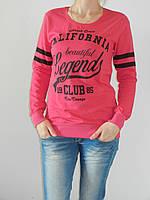Модный свитшот женский тонкий с принтом California 100% хлопок (4 цвета) S, M, L, XL