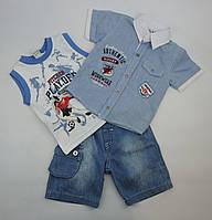 Костюм летний майка,шведка,шорты для мальчика 0-2 года