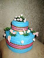 Оригинальный практичный подарок - торт из полотенец