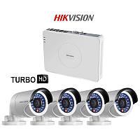 Комплект TurboHD видеонаблюдения Hikvision DS-J142I/7104HGHI-SH, 2 Mpix