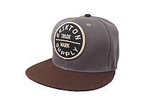 Темно-серая кепка BRIXTON с коричневым козырьком
