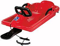 """Детские санки с рулем до 50 кг """"Alpen Drive"""" красные арт. 991401"""