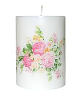 Свеча декоративная розы  d -6  h-8 cm