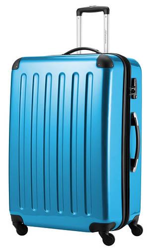 Дорожный семейный пластиковый чемодан-гигант 4-колесный 130 л. HAUPTSTADTKOFFER alex maxi blue голубой