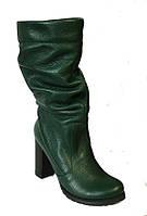 Полусапожки женские на каблуке натуральная кожа